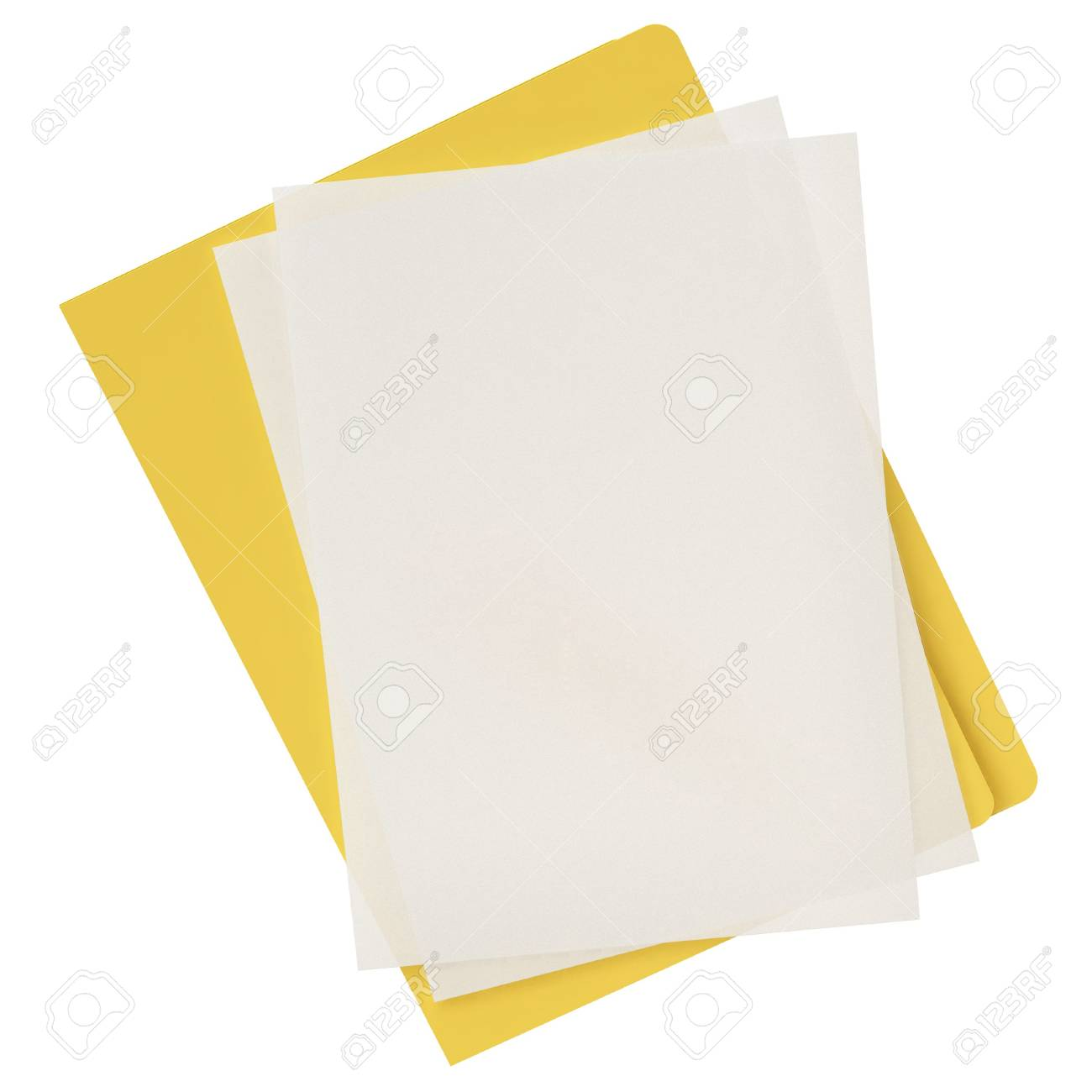 Folder & document icon isolated over a white background. This is a 3D rendered picture. Stock Photo - 860756