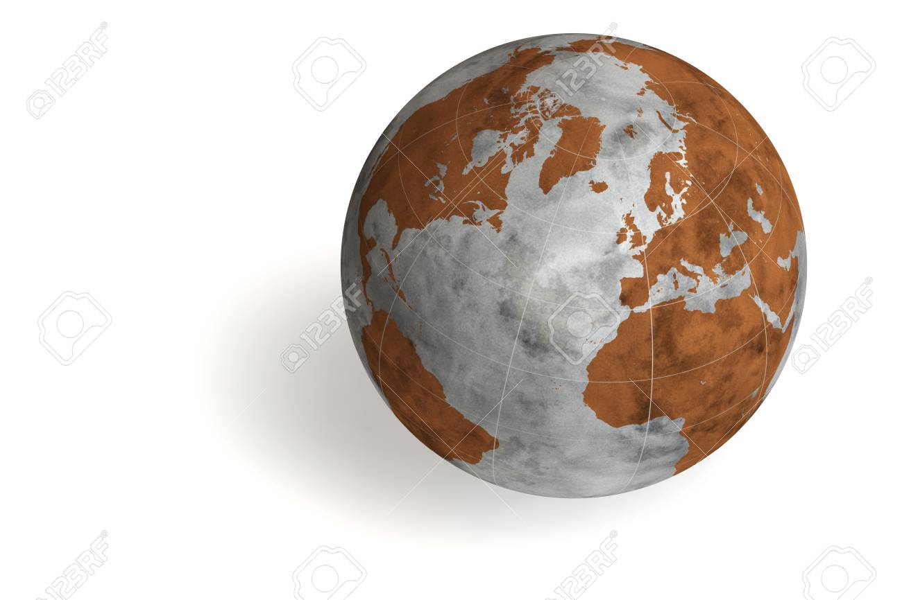World globe isolated over a white background. This is a 3D rendered picture. Stock Photo - 860794