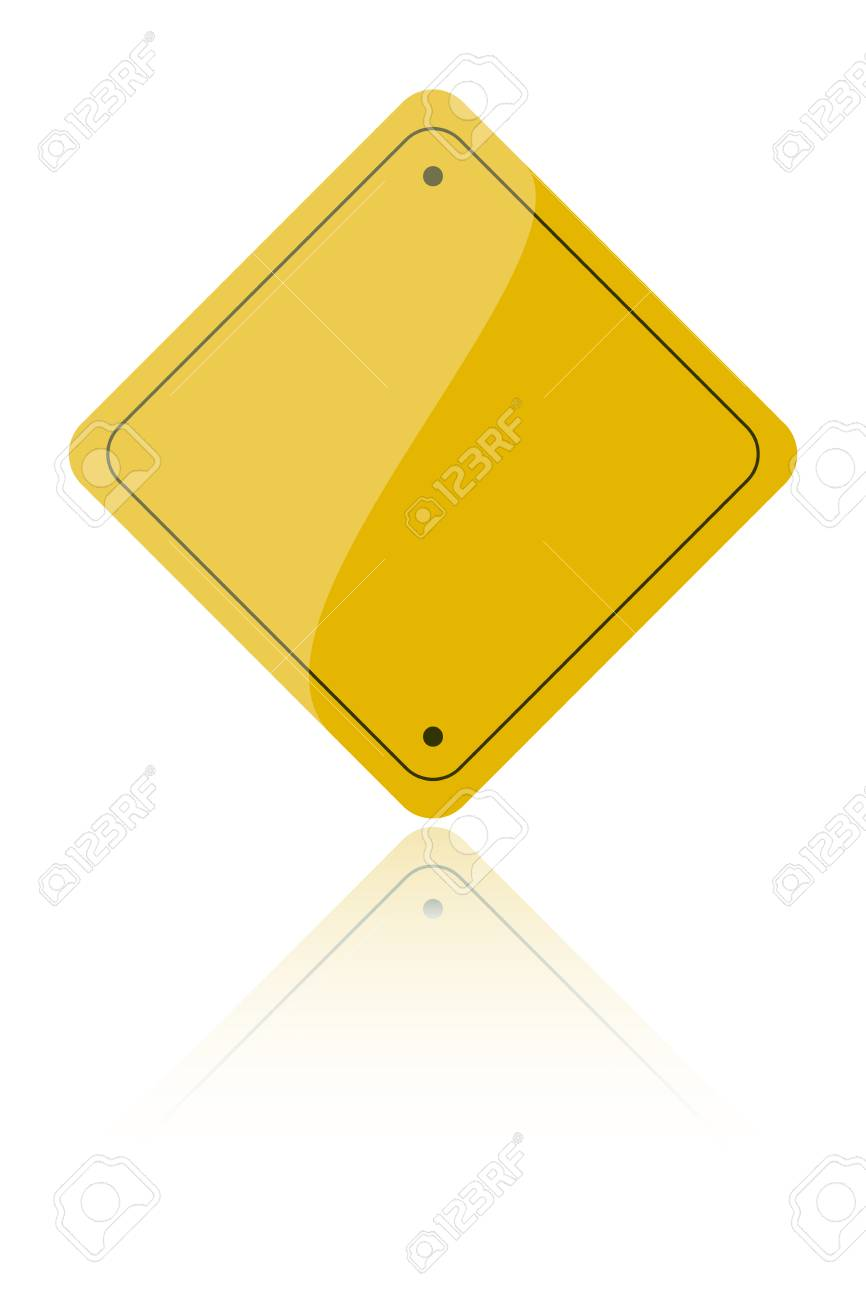 Road sign icon isolated over a white background Stock Vector - 2860209