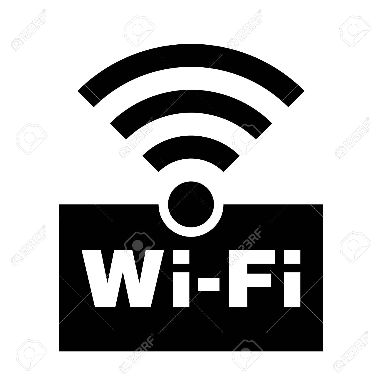 Wifi Symbol Icon Wireless Local Area Networking Vector Illustration Royalty Free Cliparts Vectors And Stock Illustration Image 121374070 Wifi symbol free vector we have about (31,139 files) free vector in ai, eps, cdr, svg vector illustration graphic art design format. wifi symbol icon wireless local area networking vector illustration