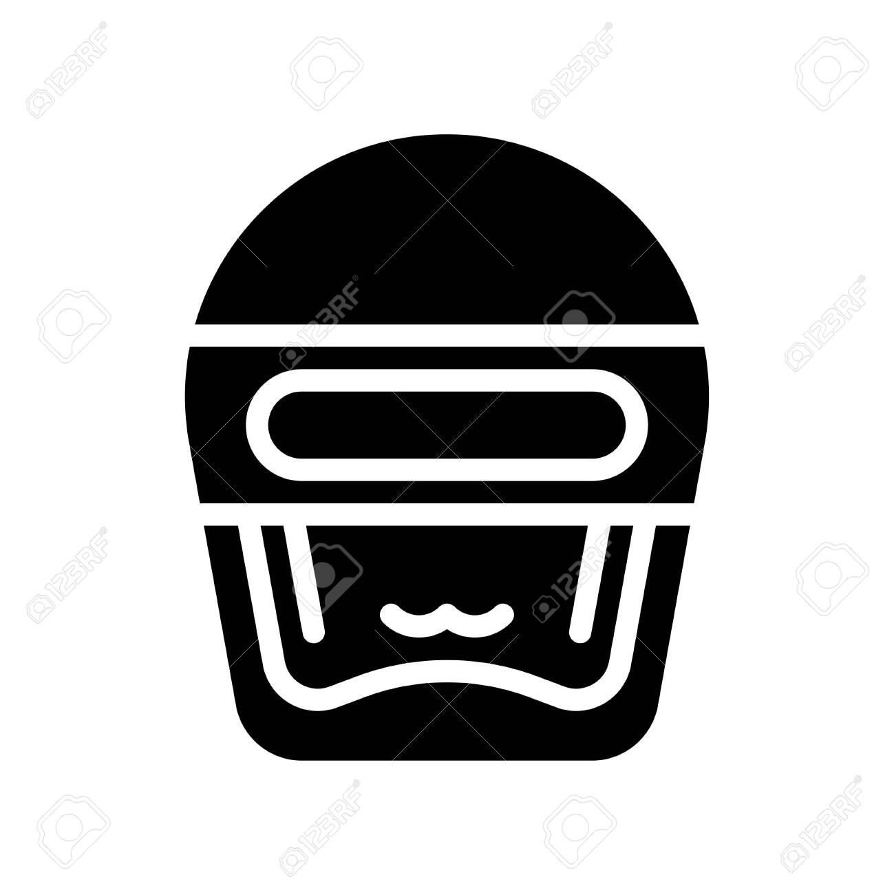Robot head vector, Robotics related solid style icon - 136139969