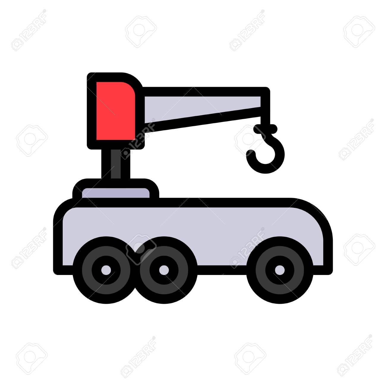 Robotic car vector illustration, Future technology filled design icon - 136139972