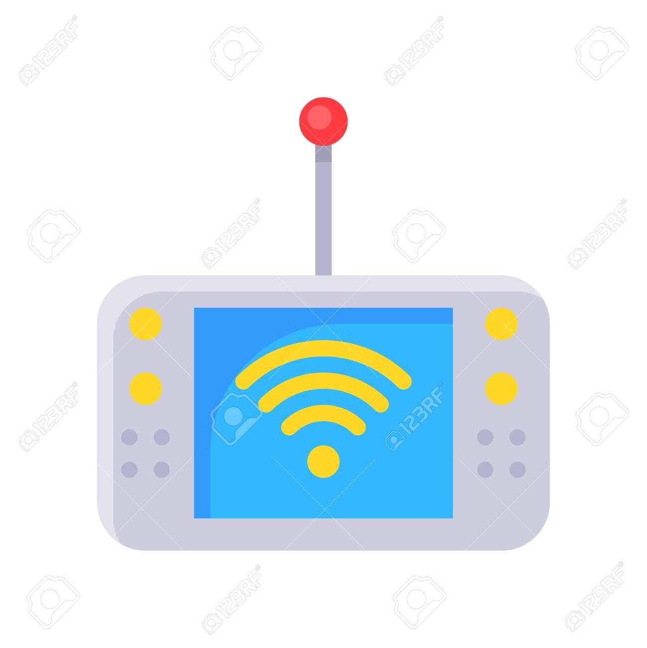 Mobile Internet device vector illustration, Future technology flat design icon - 136139984