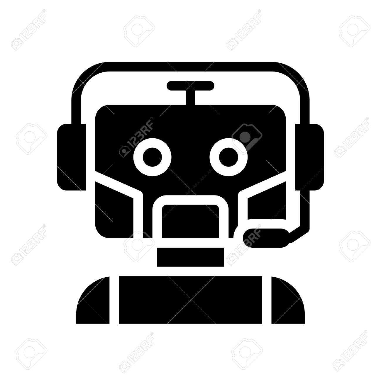 Robot vector, Robotics related solid style icon - 136139995