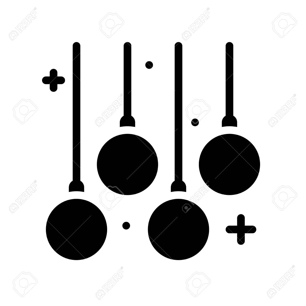 Christmas lights solid design icon, vector illustration - 136139991