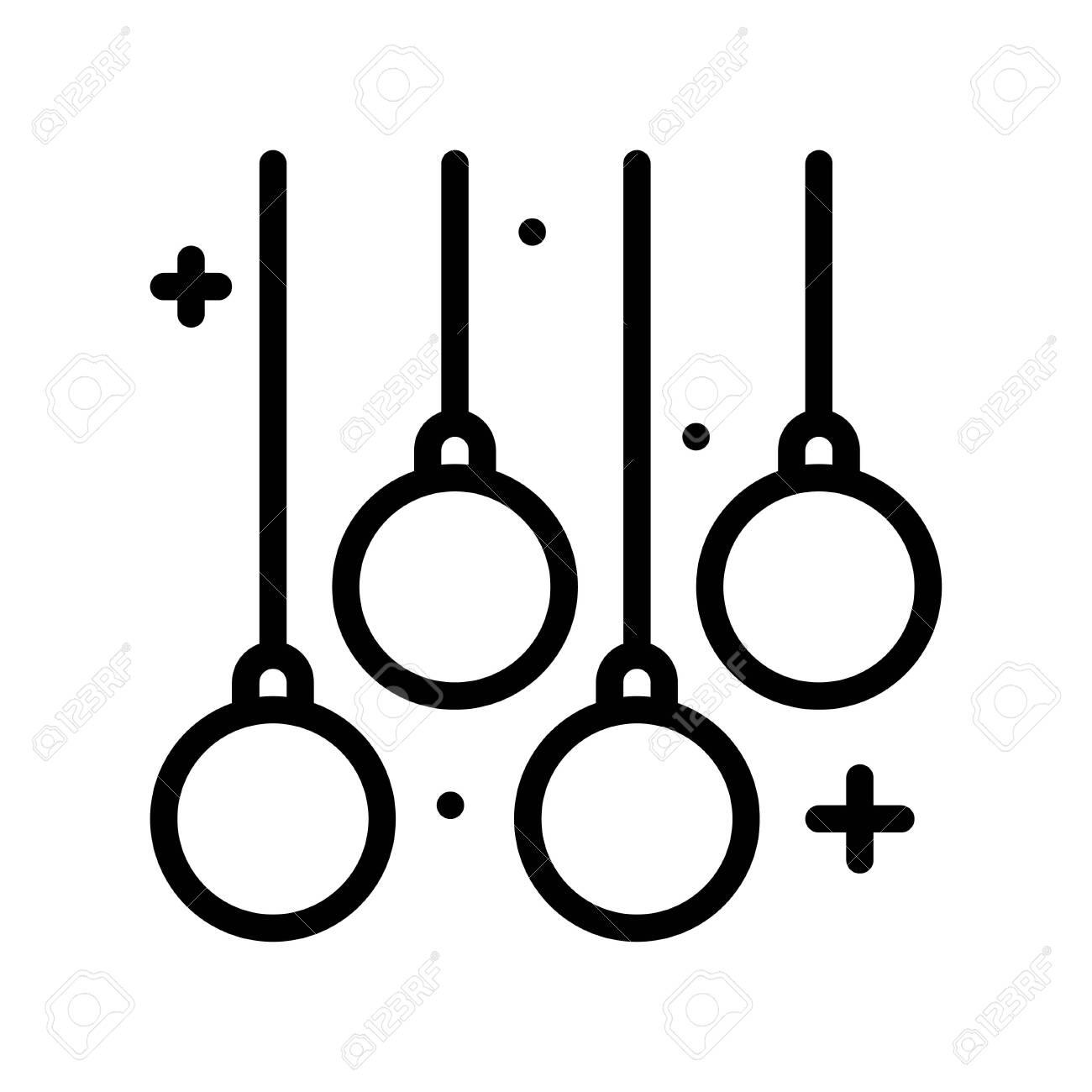 Christmas lights line design icon, vector illustration - 136139999