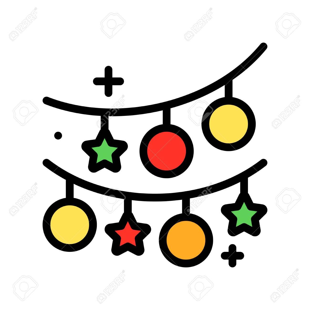 Christmas lights filled design icon, vector illustration - 136140002
