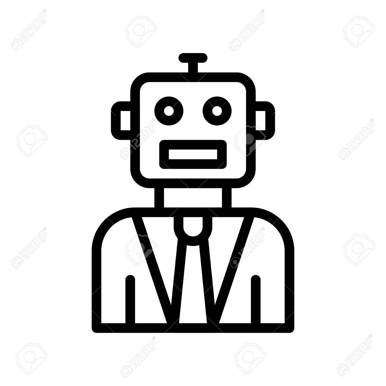 Robot vector, Robotics related line style icon - 136140020