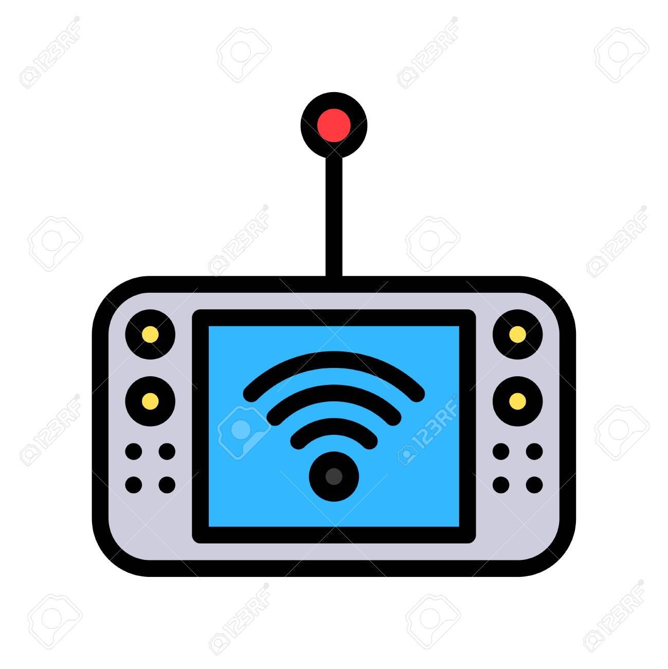 Mobile Internet device vector illustration, Future technology filled design icon - 136140023