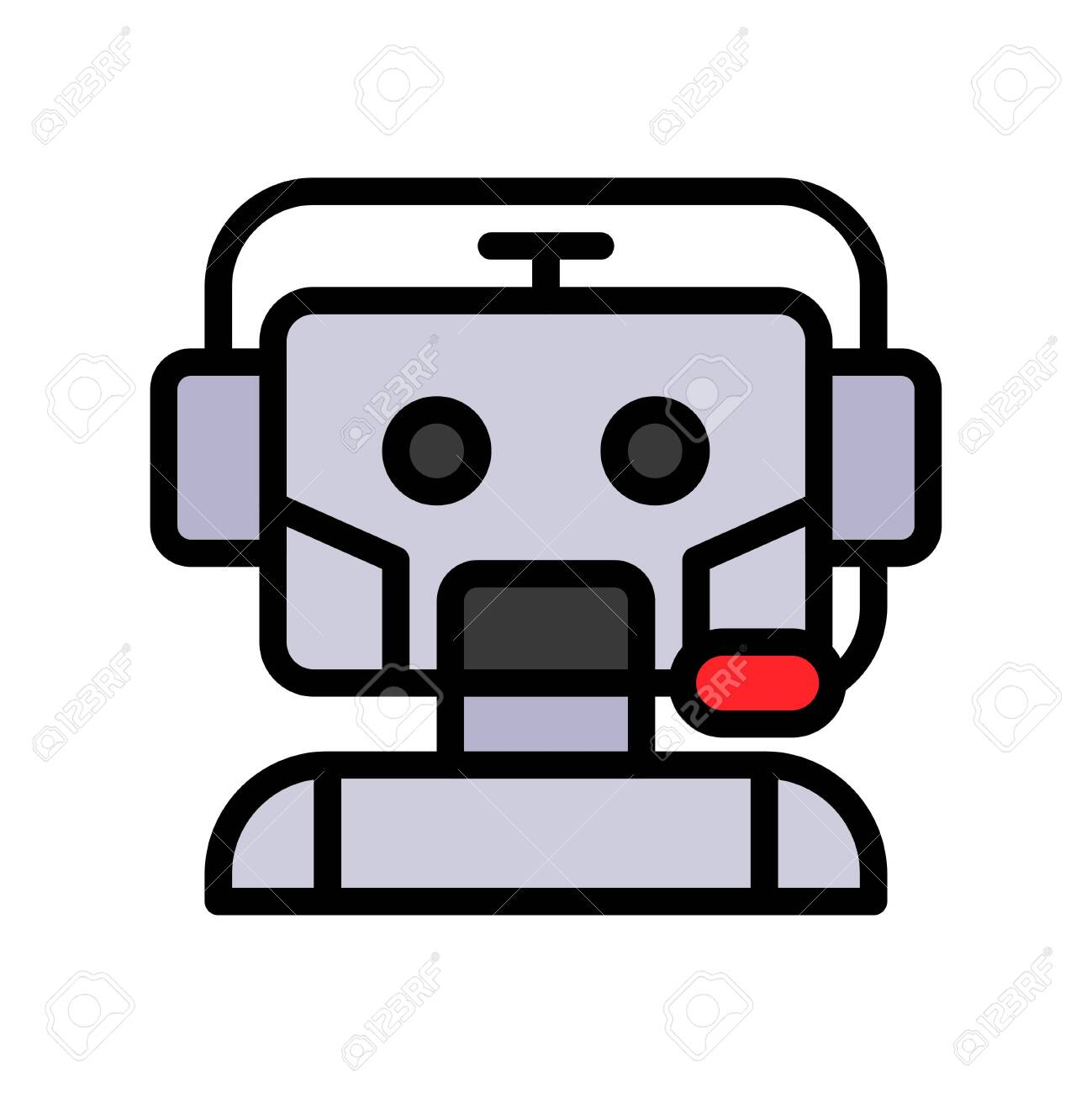 Robot vector, Robotics related filled style icon - 136140024