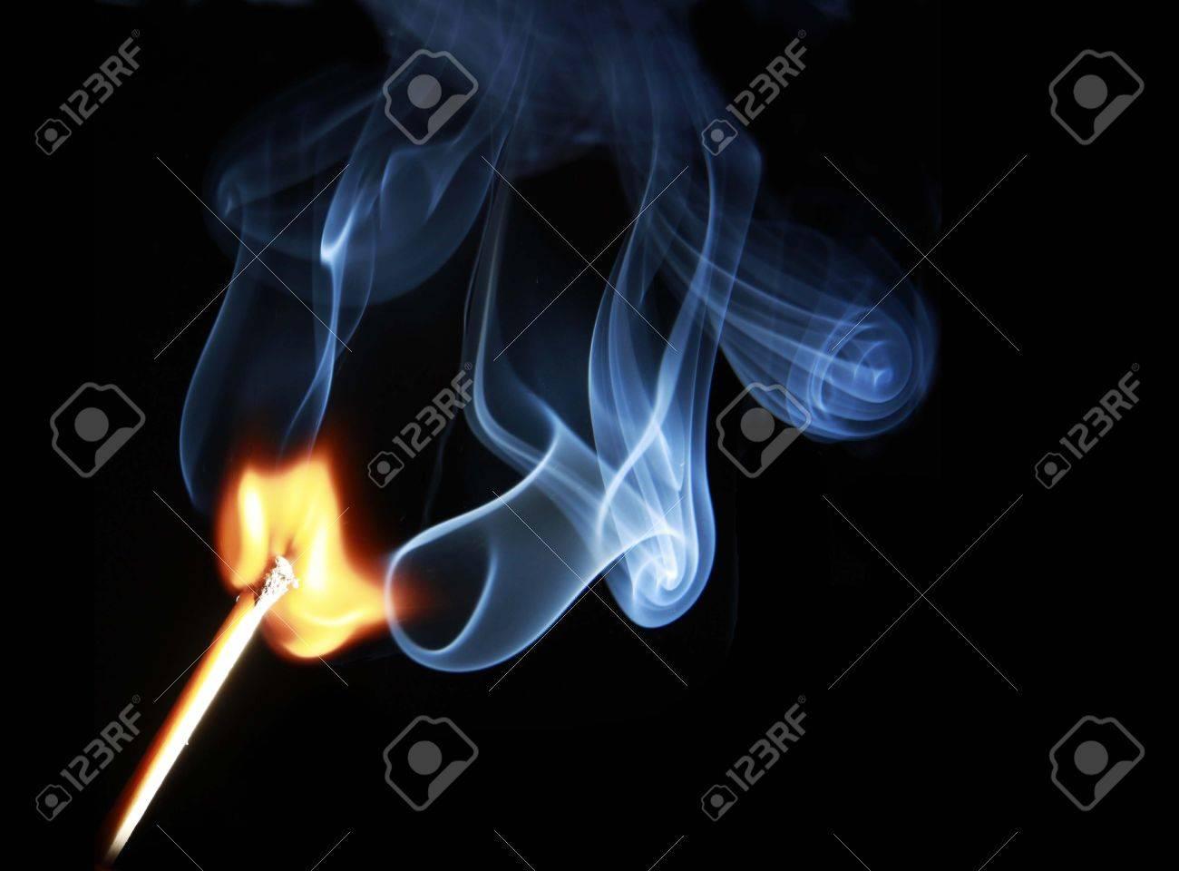 matchstick lighted, burning match stick Stock Photo - 11074992