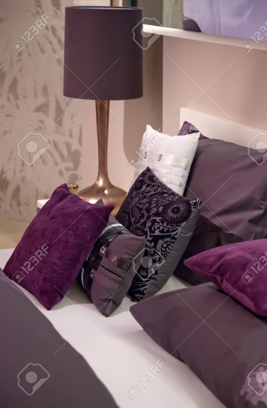 decorative fabric in bed room Stock Photo - 9150720