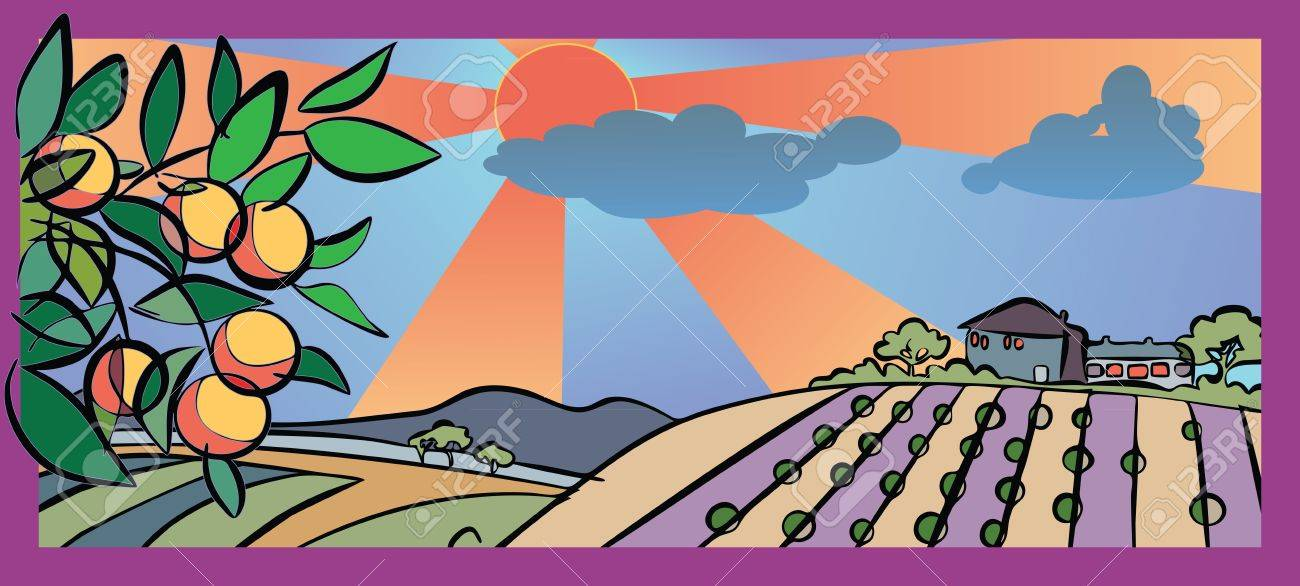 autumn and harvest in country Stock Vector - 10633572