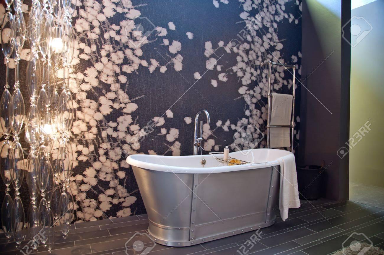 interior of classic bath room with evening light Stock Photo - 10871516