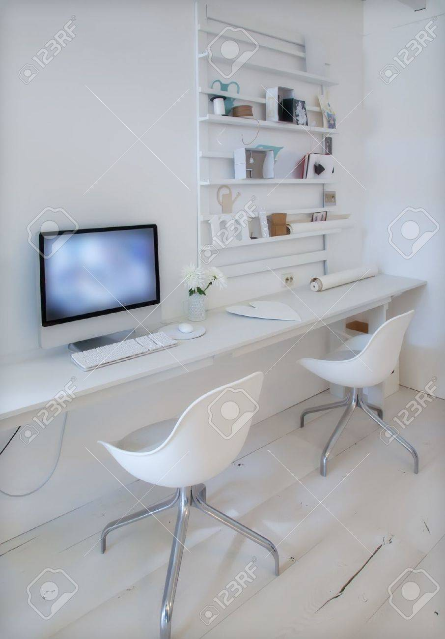 Designer Working Place At Home With Computer Stock Photo, Picture ...