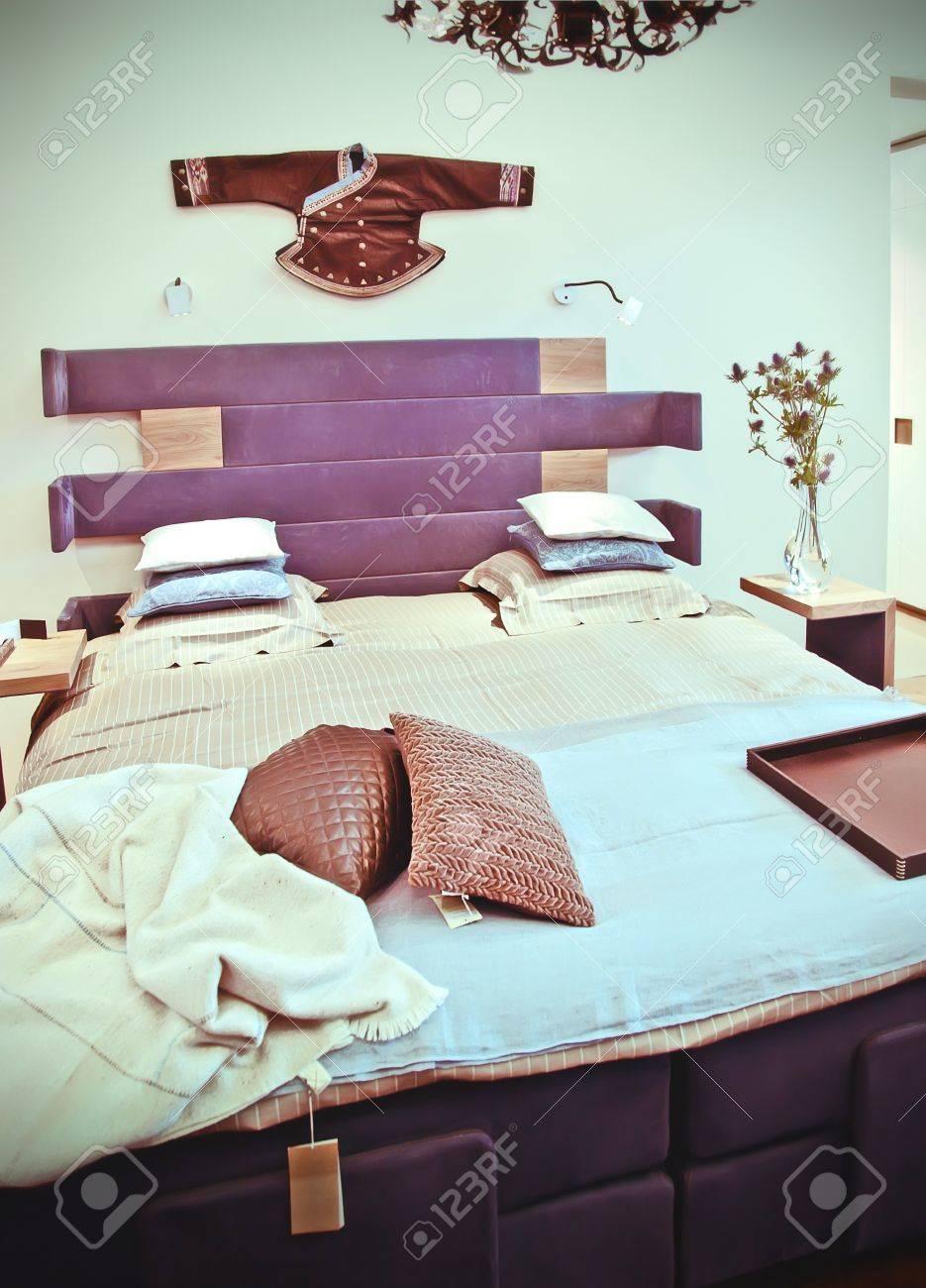 Camera da letto in stile orientale, i colori retrò