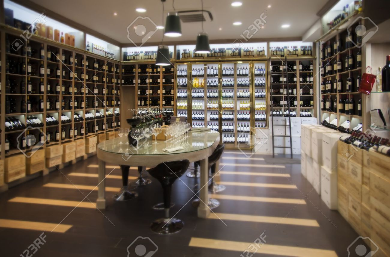 interior of modern wine shop stock photo picture and royalty free  - interior of modern wine shop stock photo