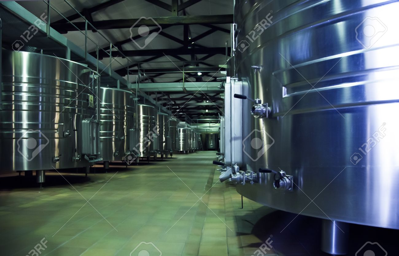winery distillation space in wine factory Stock Photo - 15064163