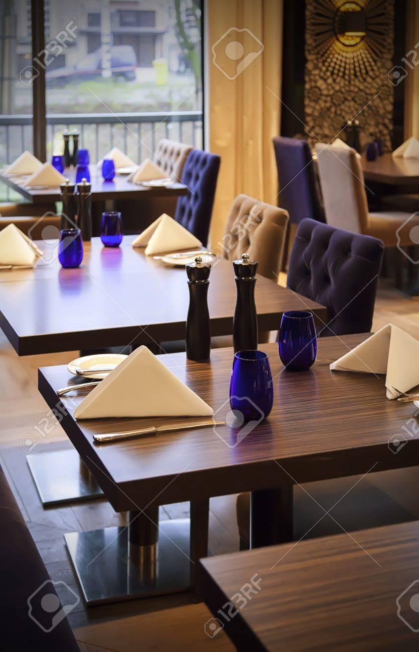 restaurant table in stylish interior Stock Photo - 17368370