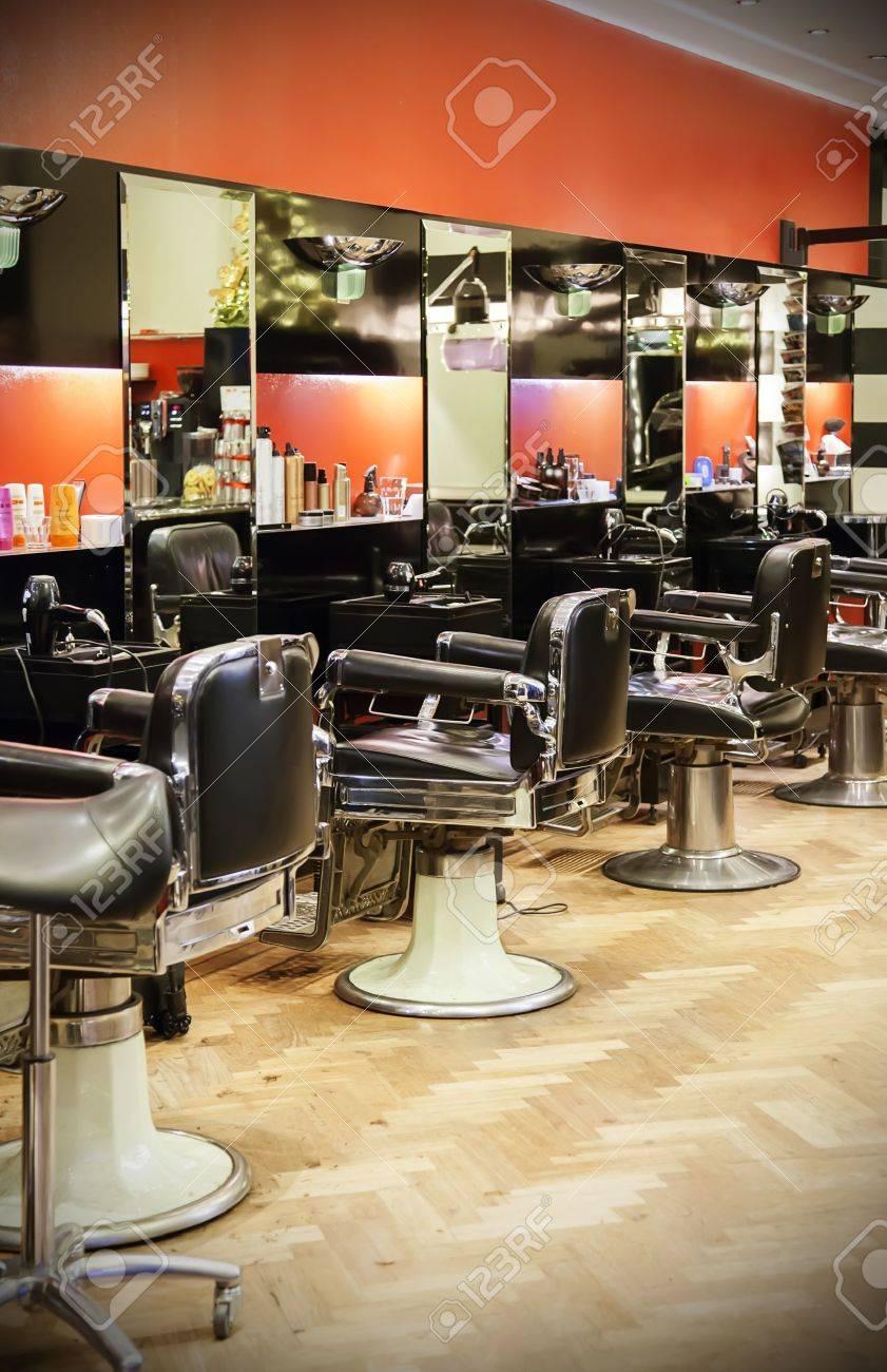 Banque Du0027images   Vide Intérieur Moderne De Salon De Coiffure