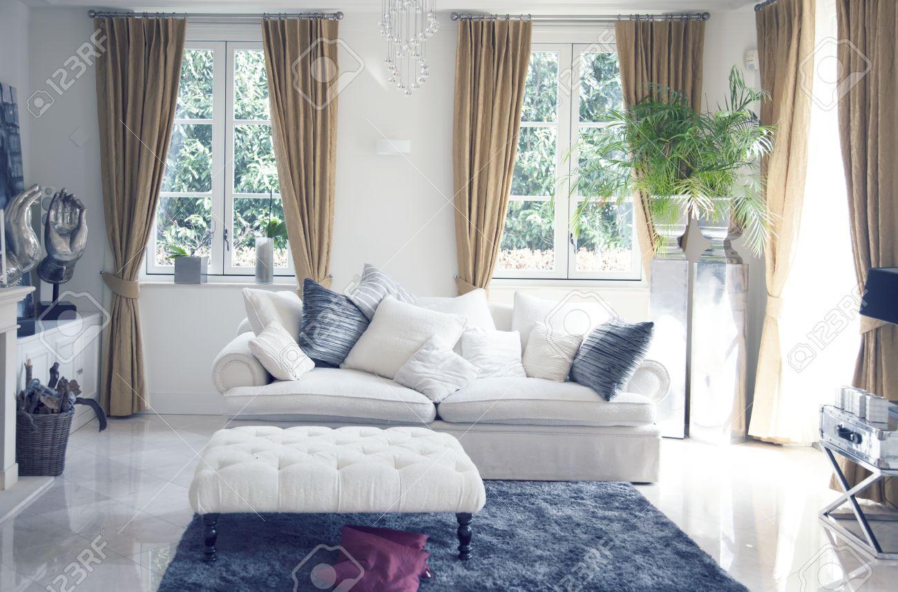 Big Sofa In Classic Interior Stock Photo   19856420