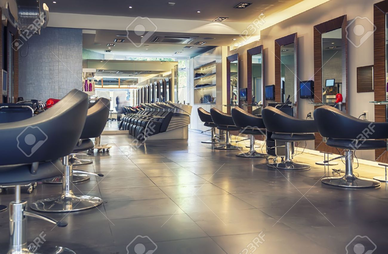 interior of modern hair salon Stock Photo - 20487096