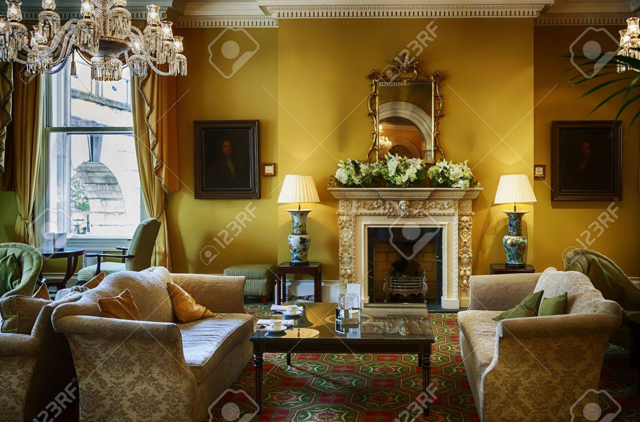 lounge in classic luxury hotel Stock Photo - 22071717