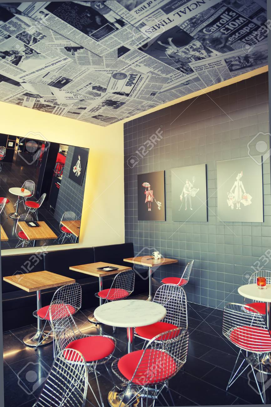 Cafe Space In Design   Hotel CitizenM In London, May 2014 Stock Photo    28691653