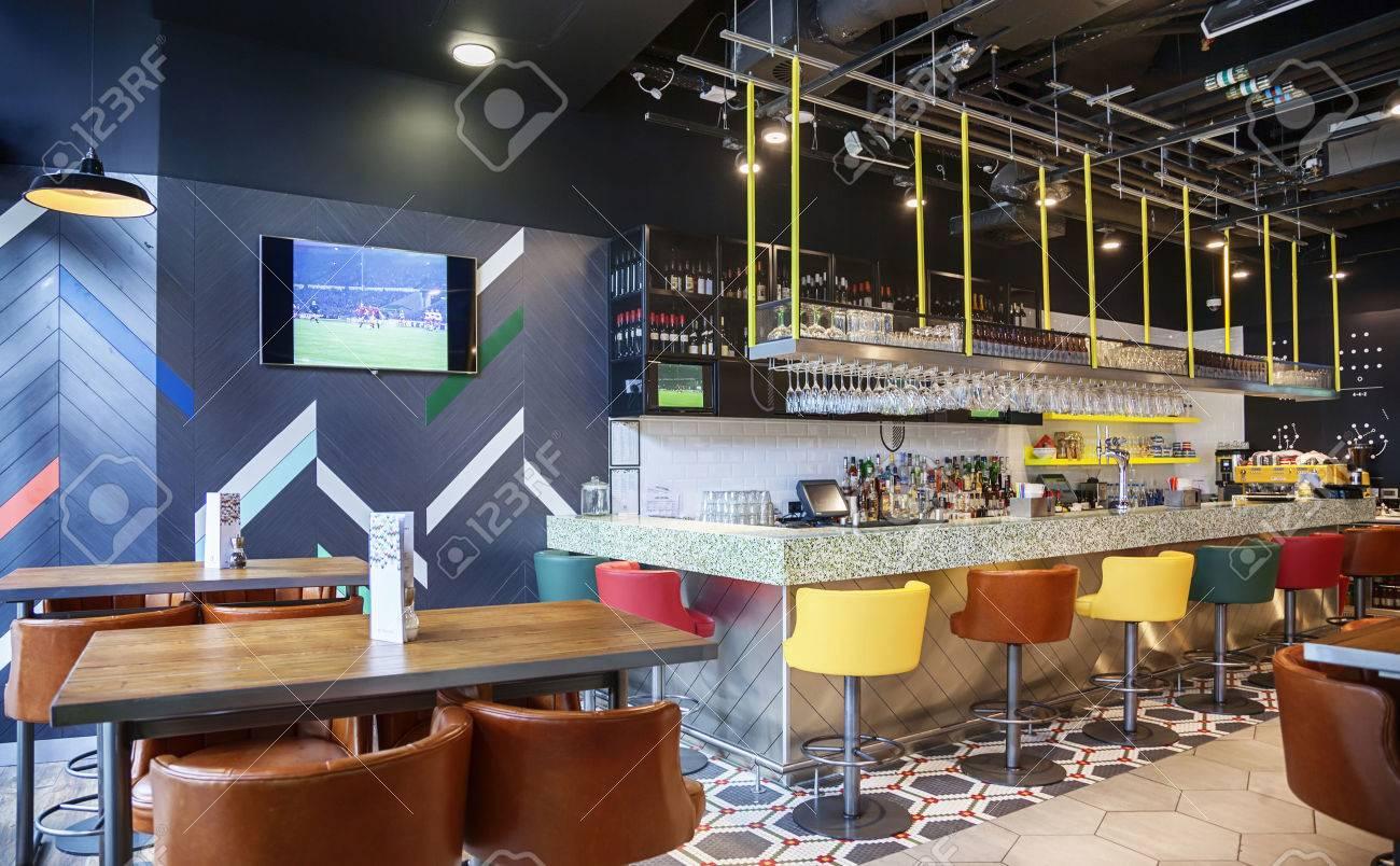 Bar De Restaurant De Style Contemporain Banque D\'Images Et Photos ...