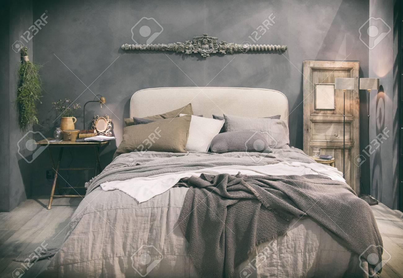 Détail De La Maison Chambre Dans Un Style Campagnard Banque D\'Images ...