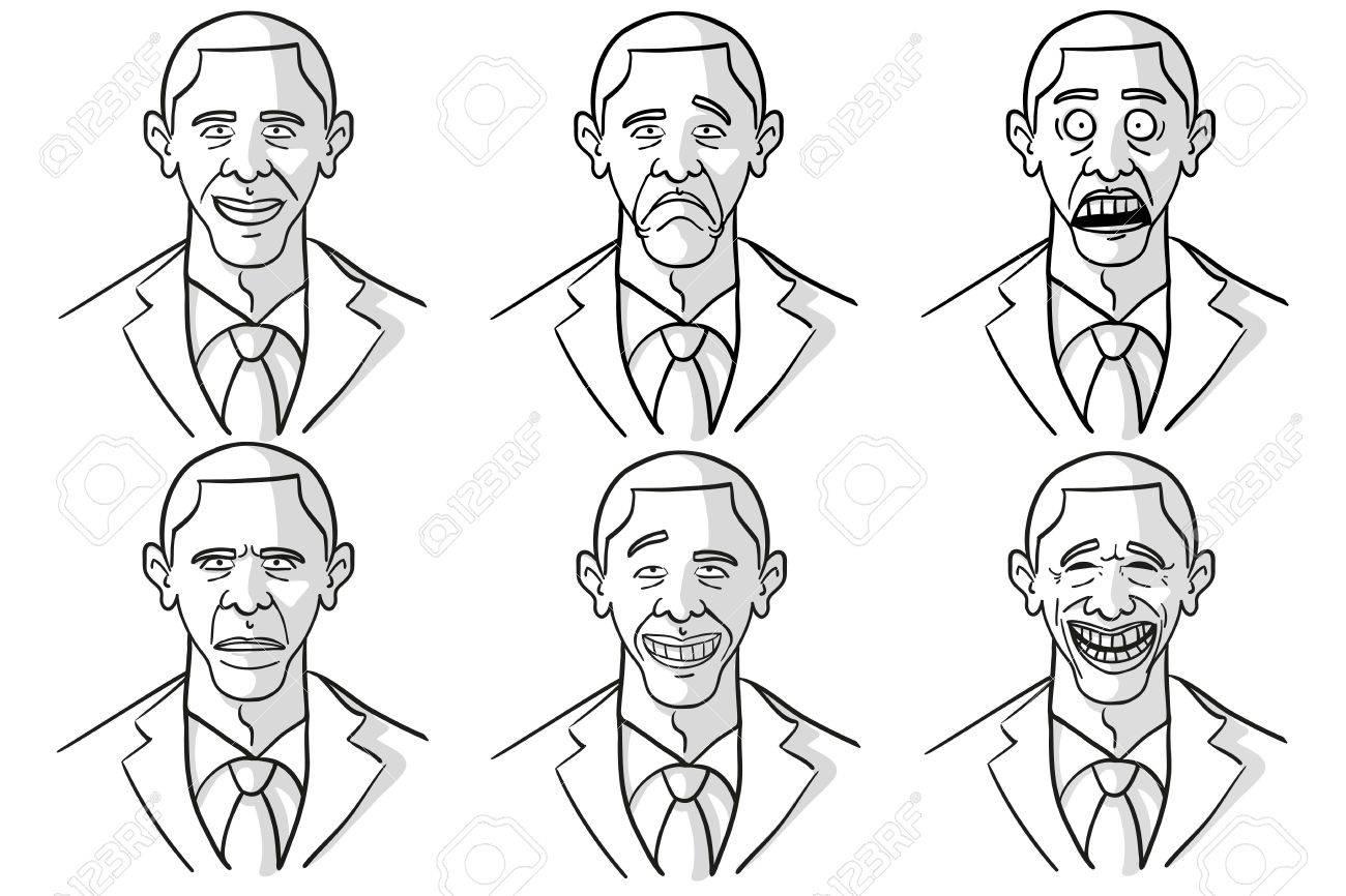 Obama Cartoon Face