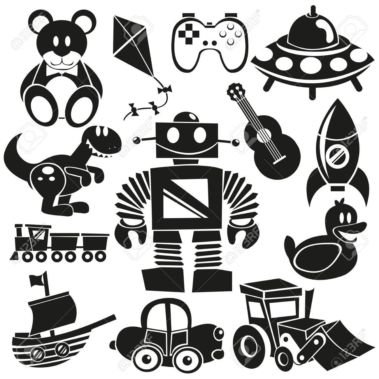 A set of black cartoon toys - 20614106