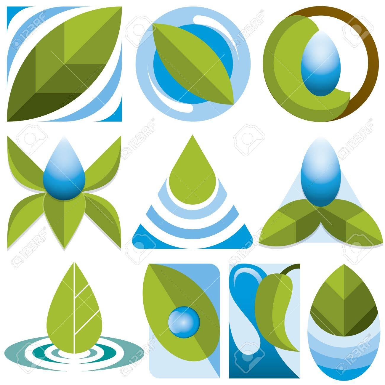 10 differents eco logos - 20614095