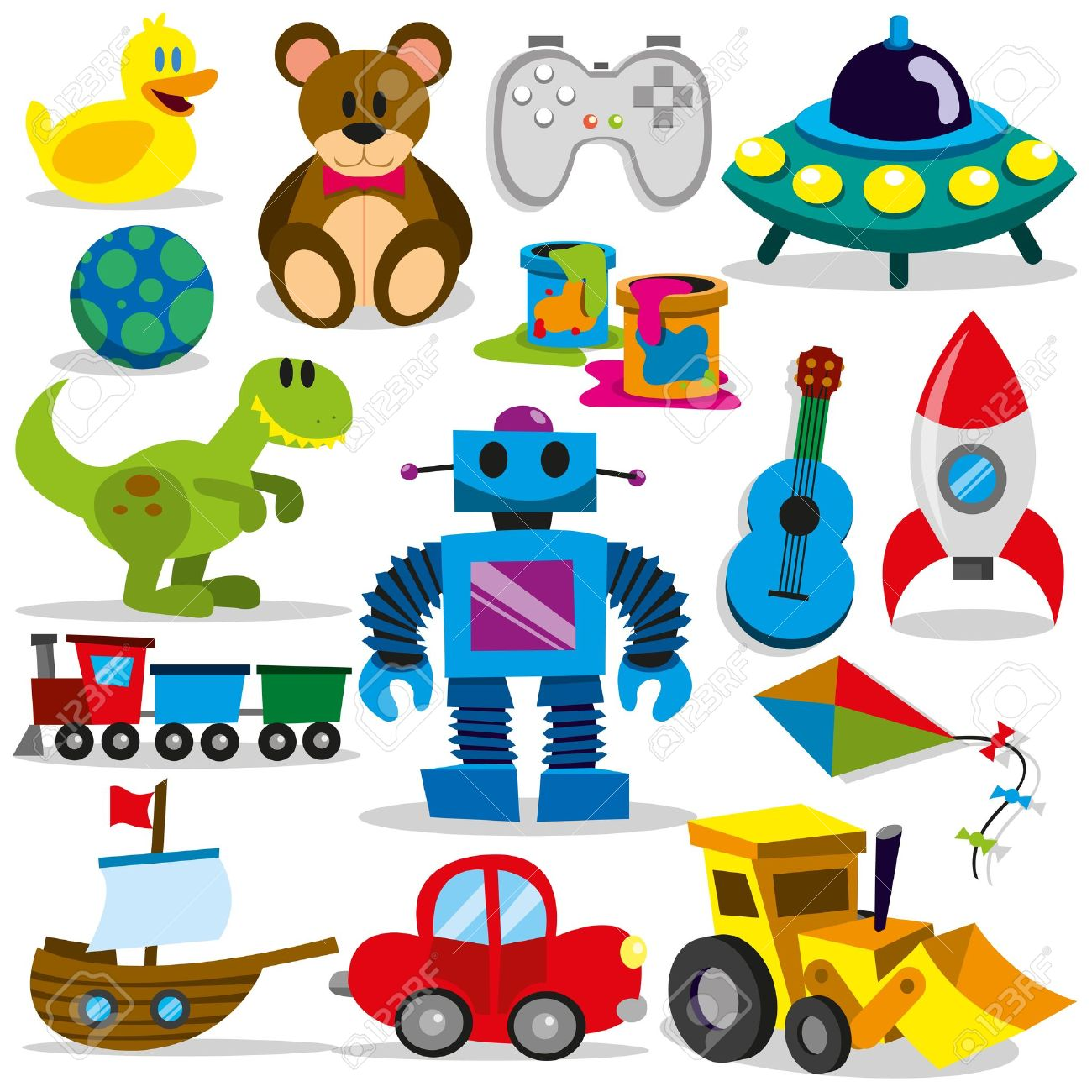 A set of differents cute vector toys Stock Vector - 20940641