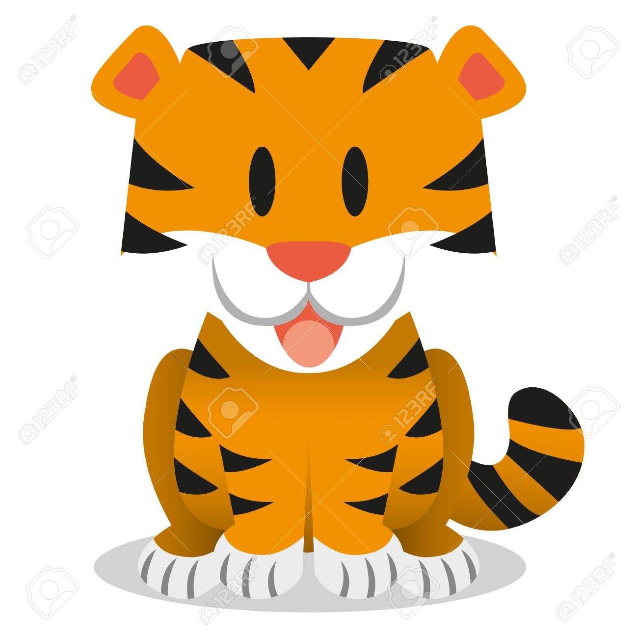10,919 Tiger Cartoon Stock Vector Illustration And Royalty Free ...