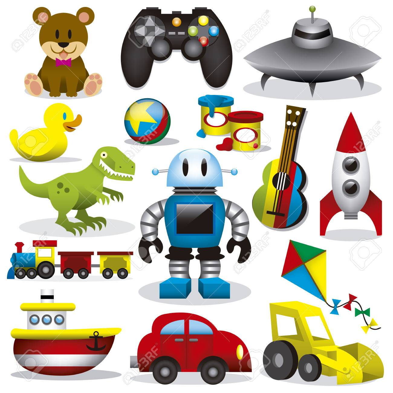 A set of differents cute vector toys - 30330690