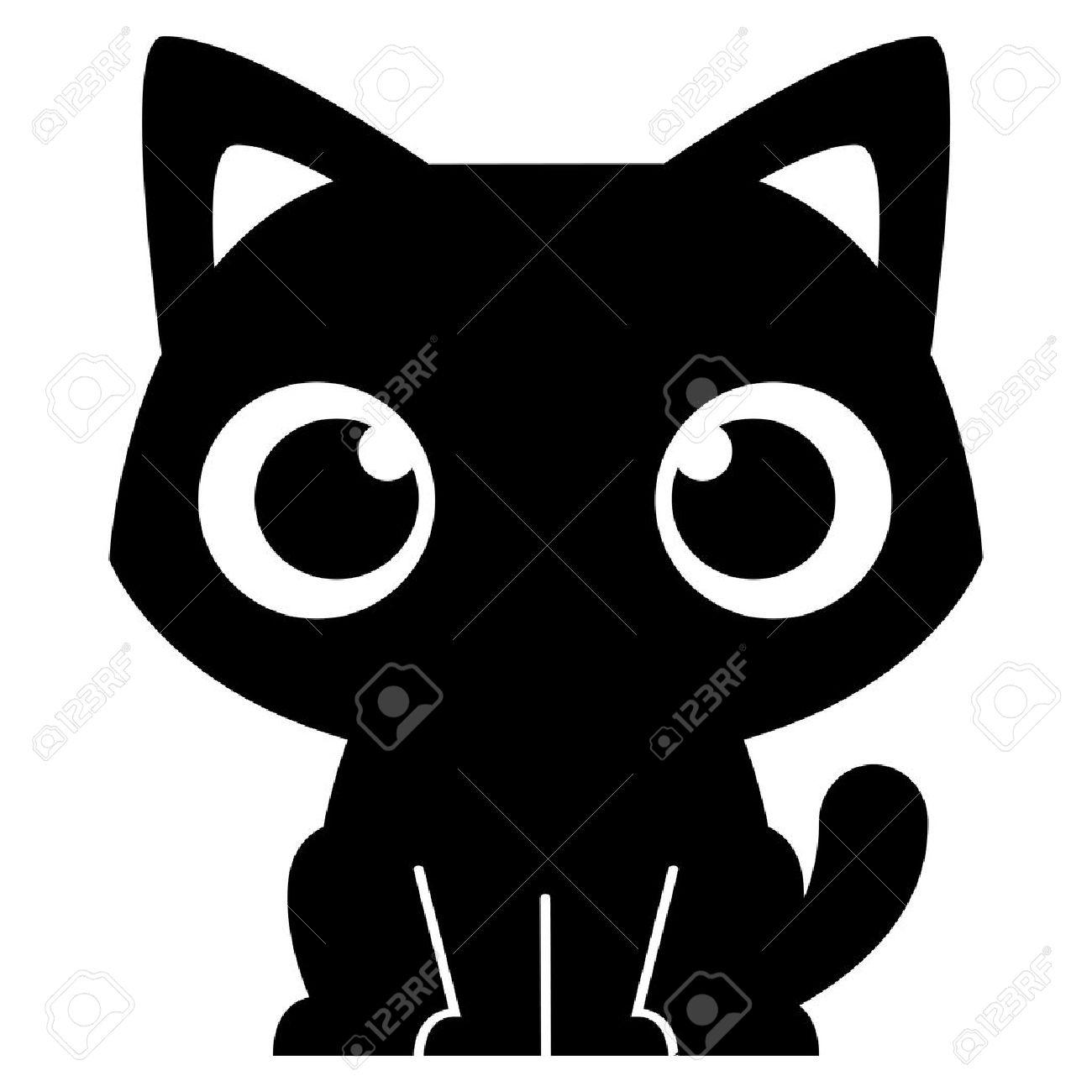 Vector de dibujos animados adorable pequeño gato Ilustración Aislado Foto de archivo - 30330235