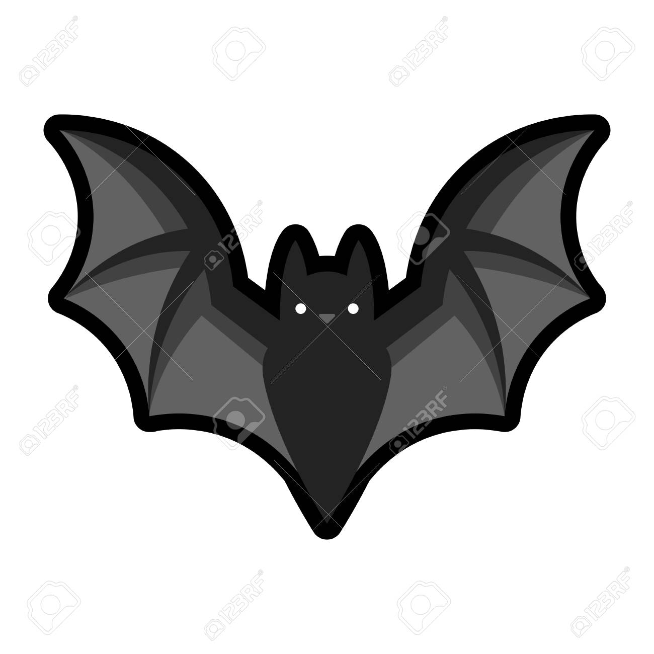 A Picture Of A Cartoon Bat vector cartoon bat emoji isolated on white background