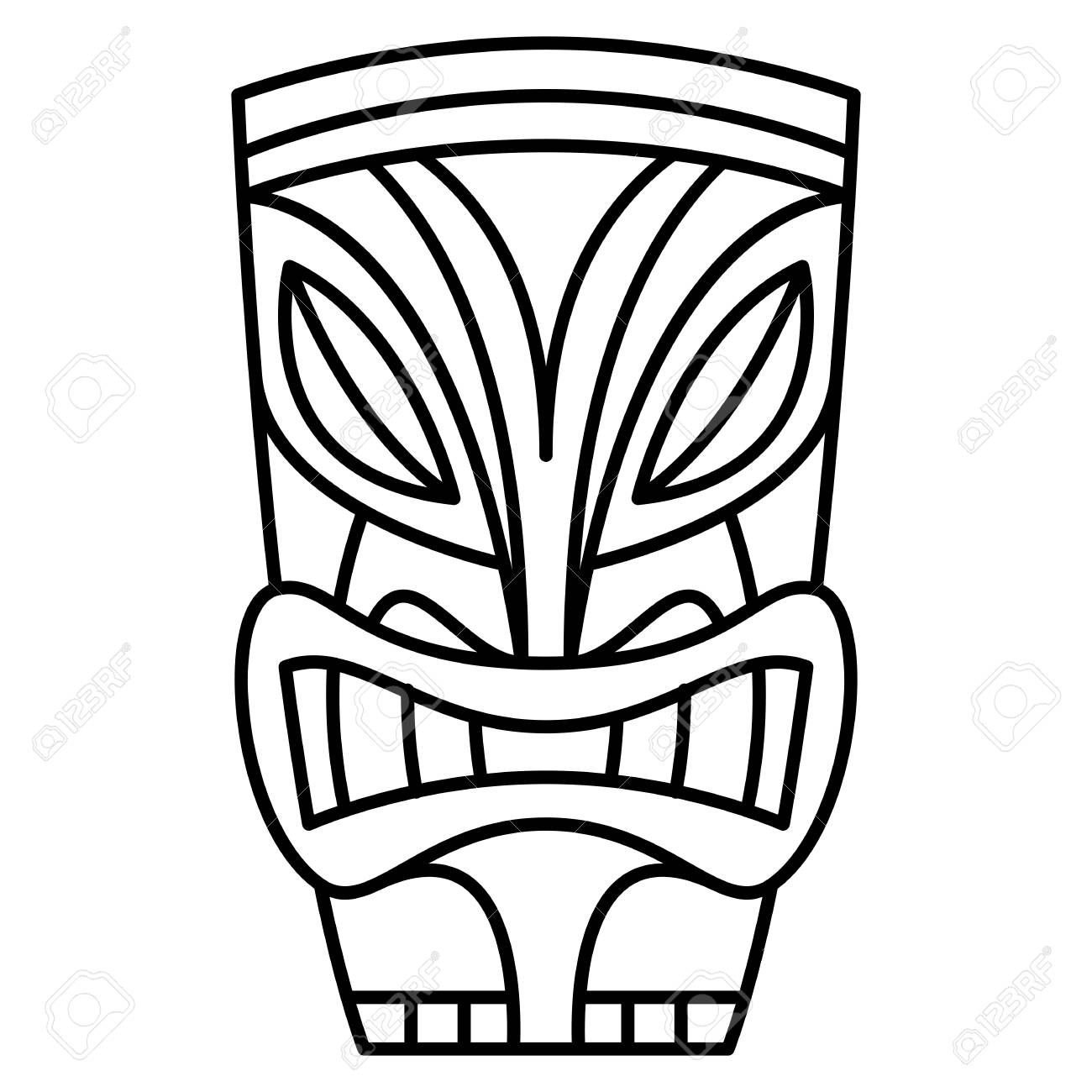 cartoon tiki idol illustration royalty free cliparts vectors and rh 123rf com tiki vectoriel vector tiki mask