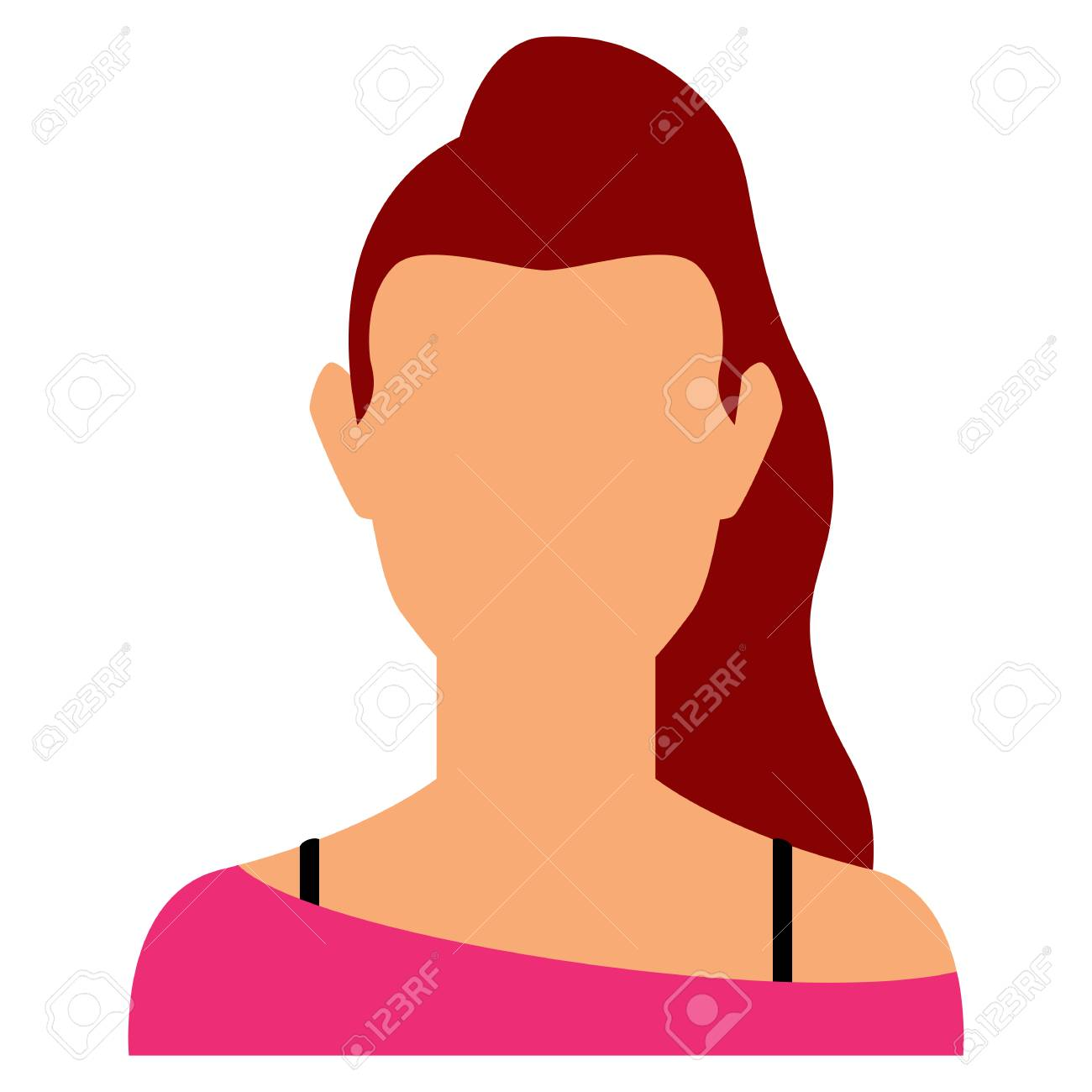 Vector Avatar Character Isolated On White Background - 120899092