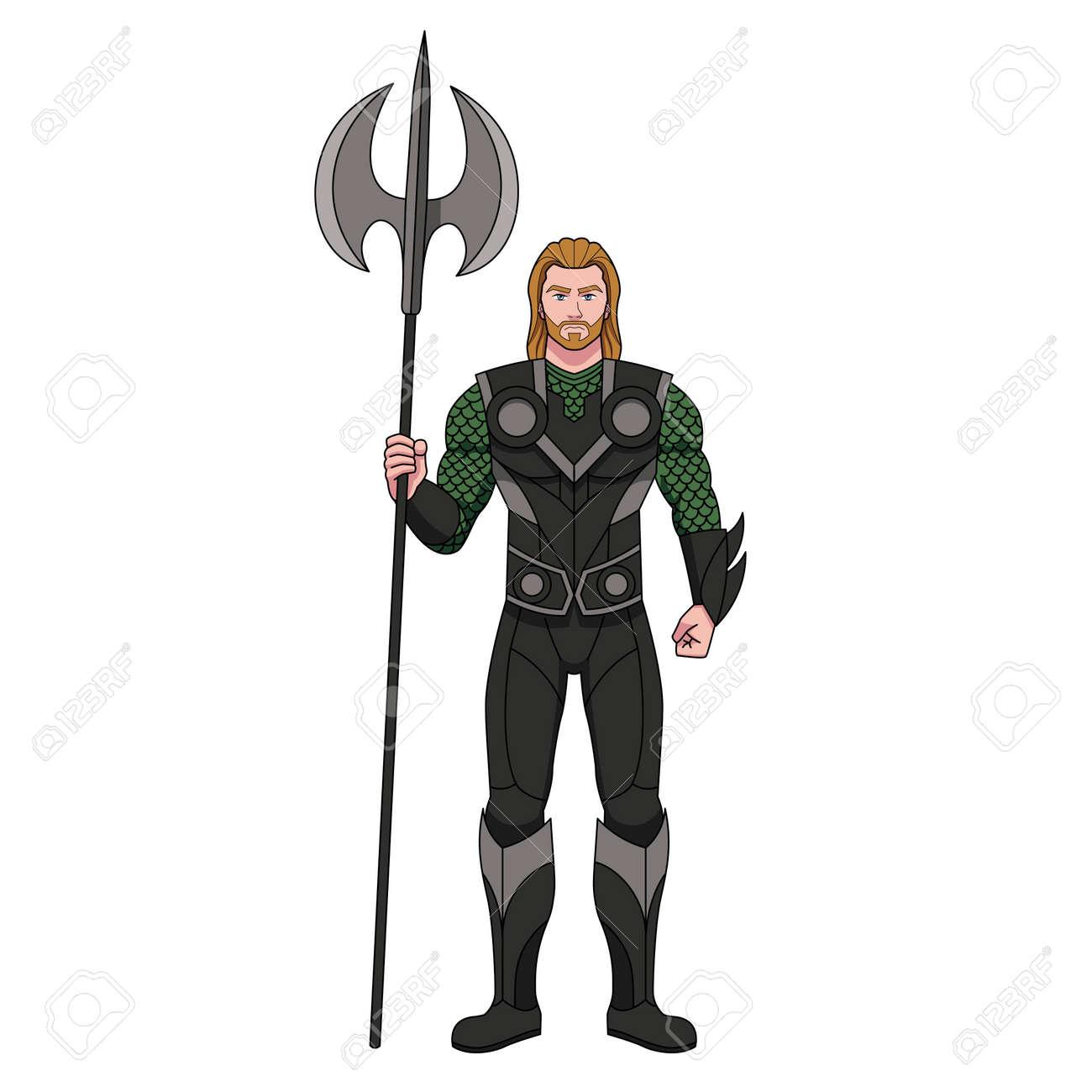 Isolated cartoon of a superhero - Vector illustration - 164693156
