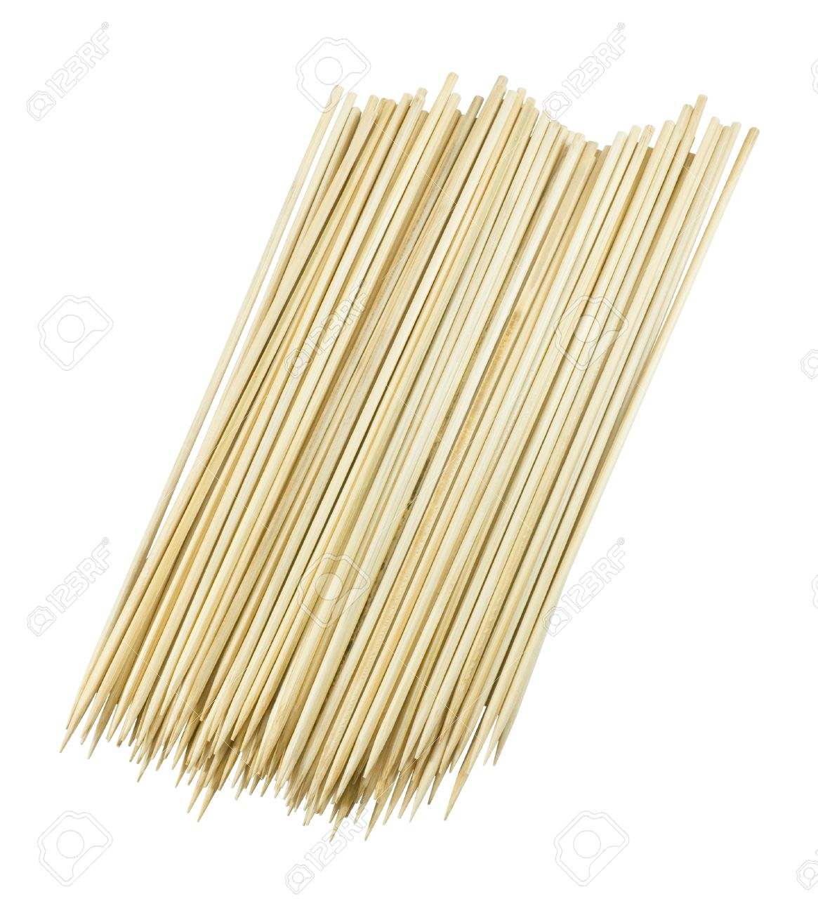 Kitchen Utensils Pile Of Wooden Sticks Or Wooden Skewers Used