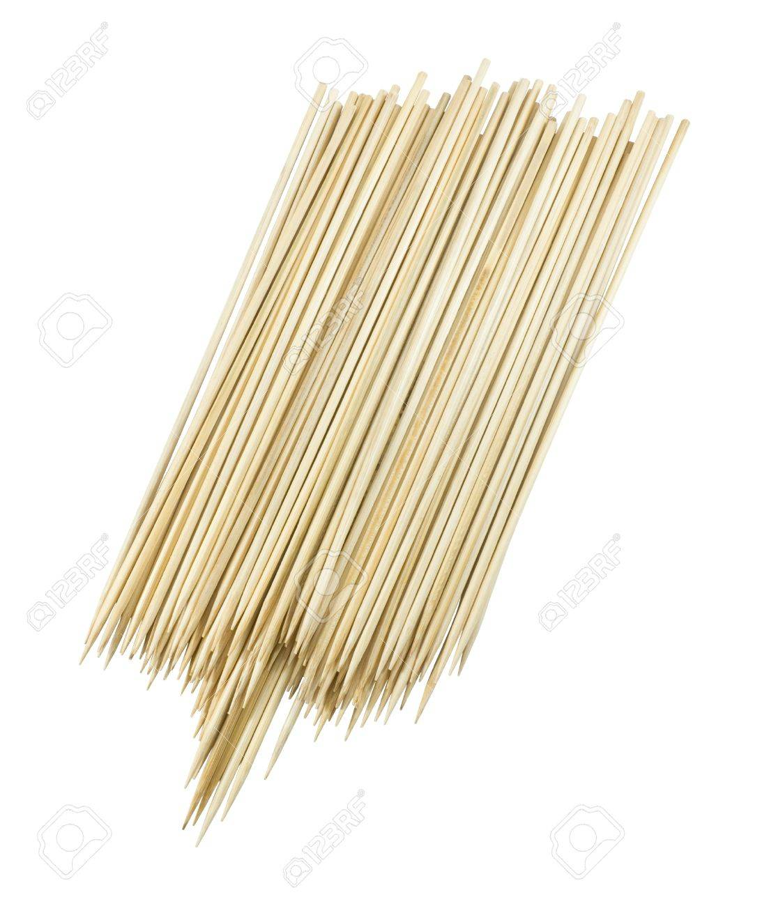 Kitchen Utensils Wooden Sticks Or Wooden Skewers Used To Hold