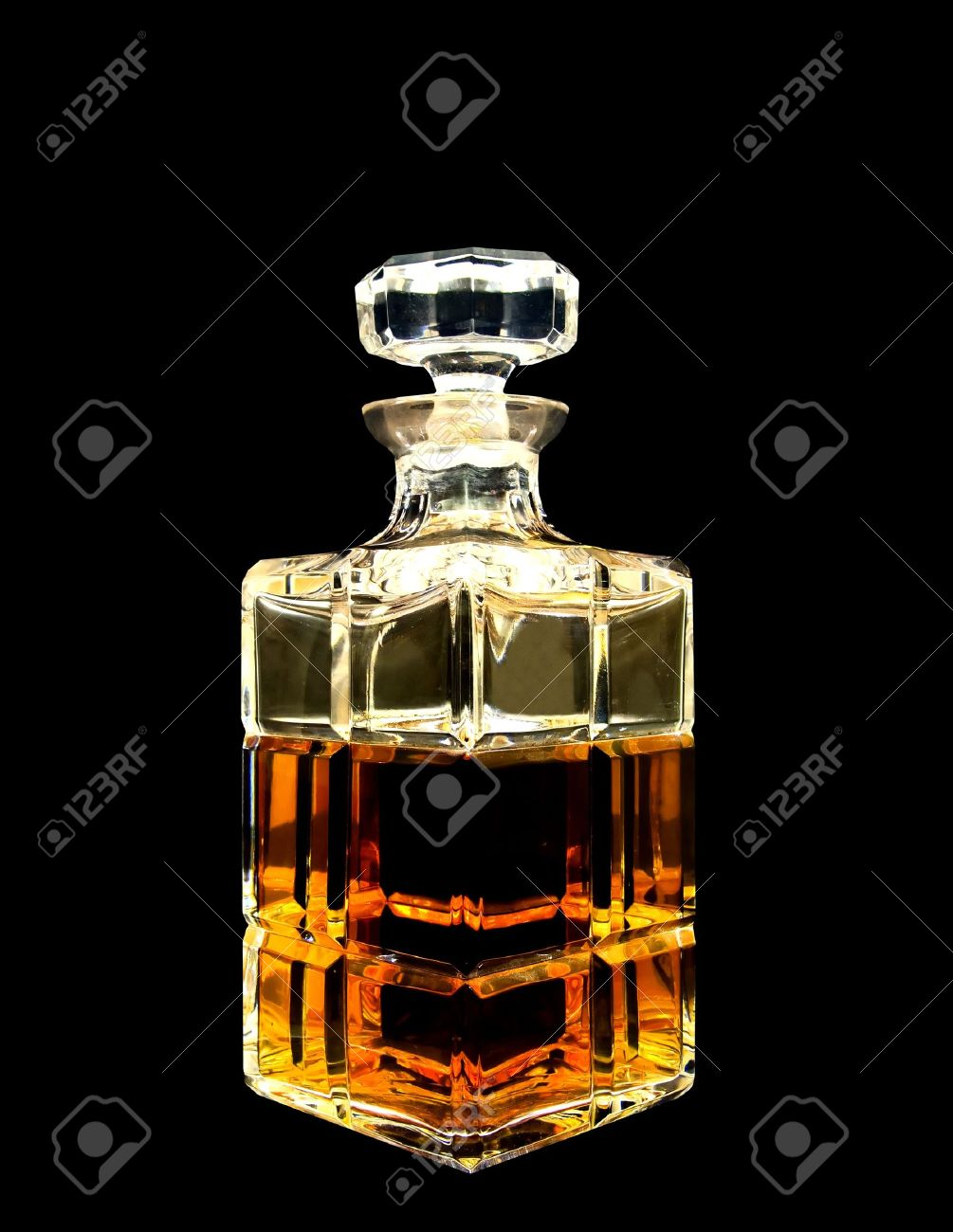 A crystal decanter with whiskey Stock Photo - 8222176