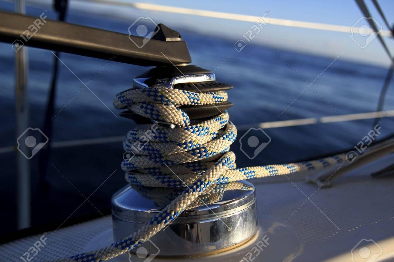 sailboat winch Stock Photo - 8348464