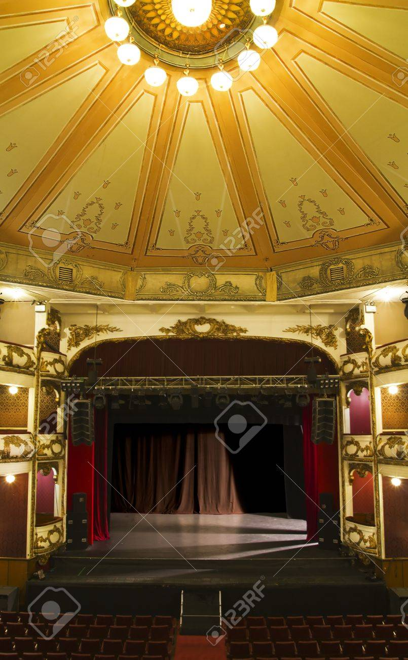 empty stage of an old theater Stock Photo - 9350972
