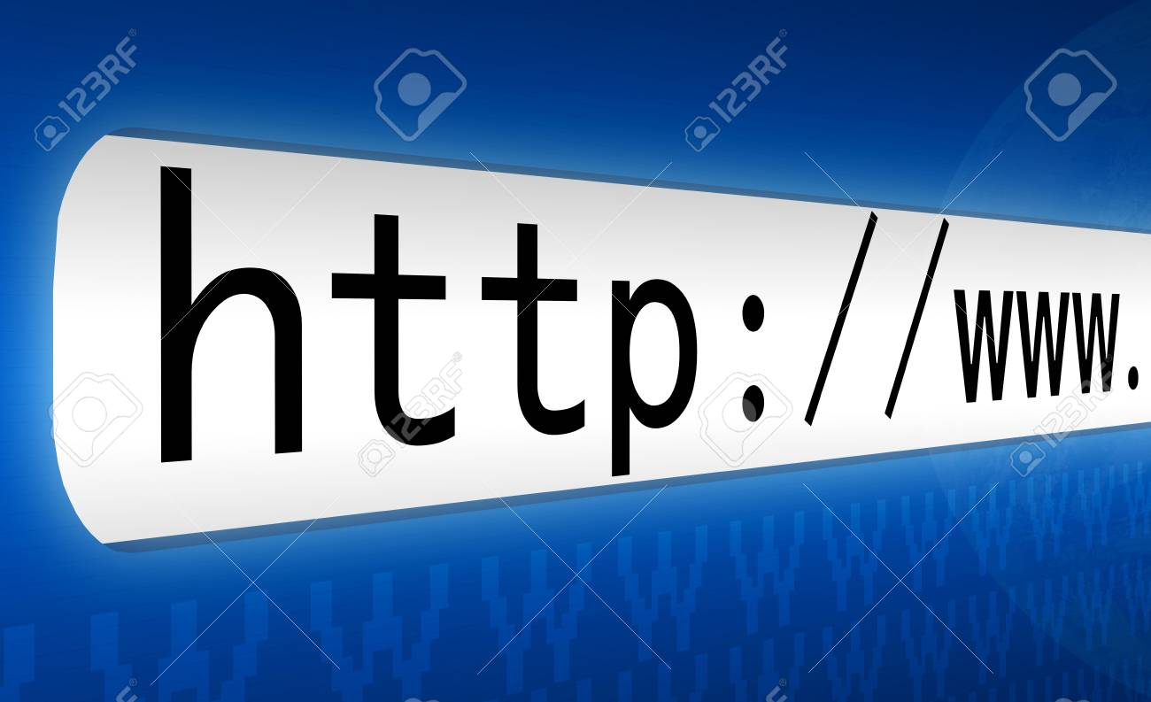 3d concept of an internet address Stock Photo - 9507986