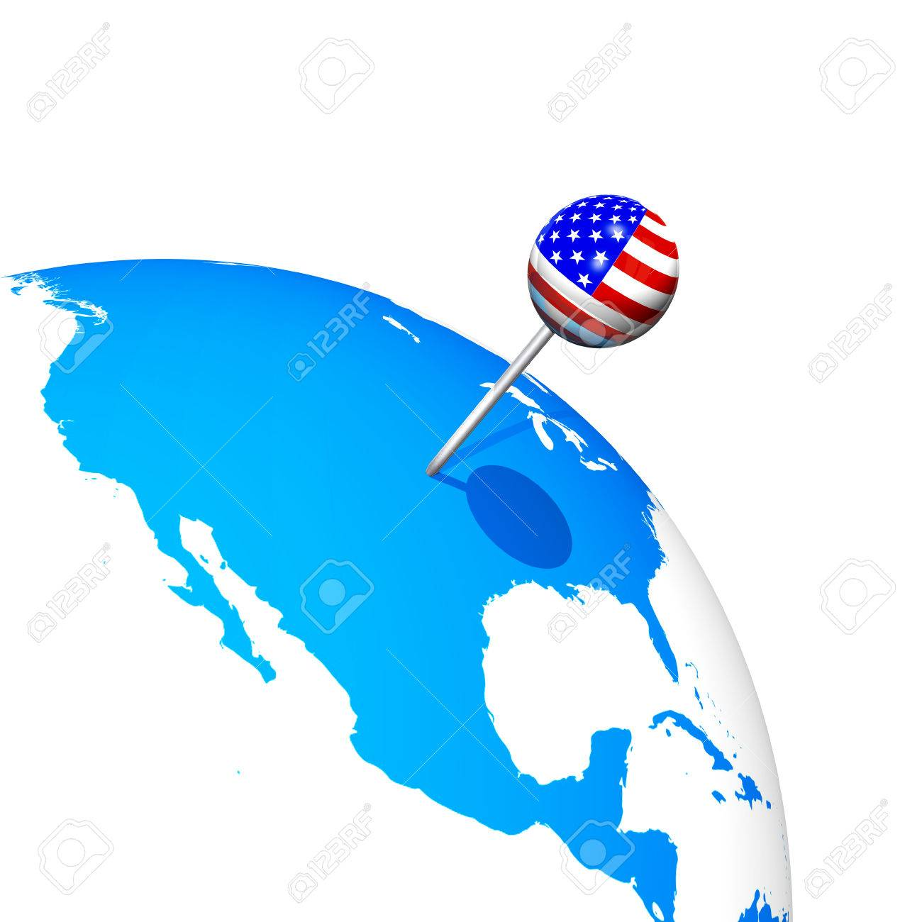 3d usa pin in america map globe stock photo picture and royalty