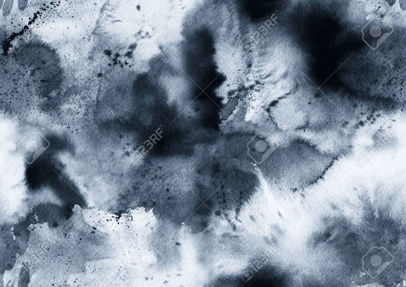 Hand painted ink seamless pattern with abstract galaxy, space, sky, smoke. - 70164072