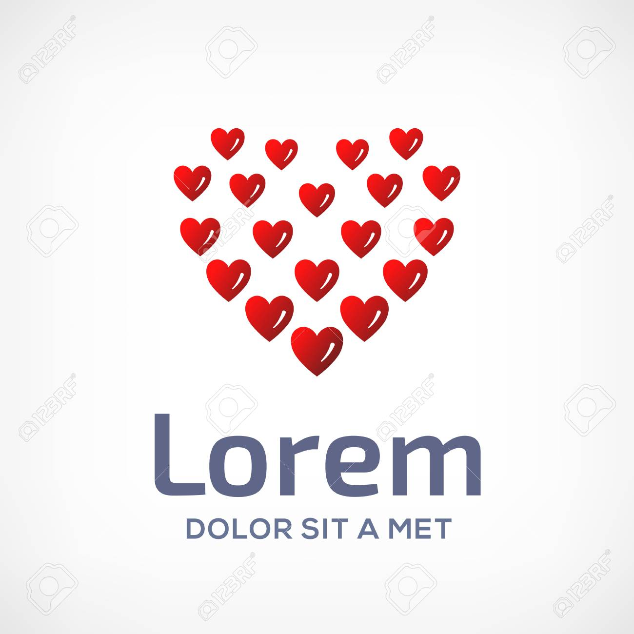 Heart Symbol Logo Icon Design Template. Vector Sign. May Be Used ...